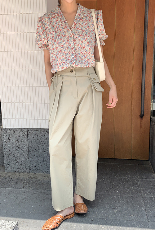 Pocket cotton pants (3 color)
