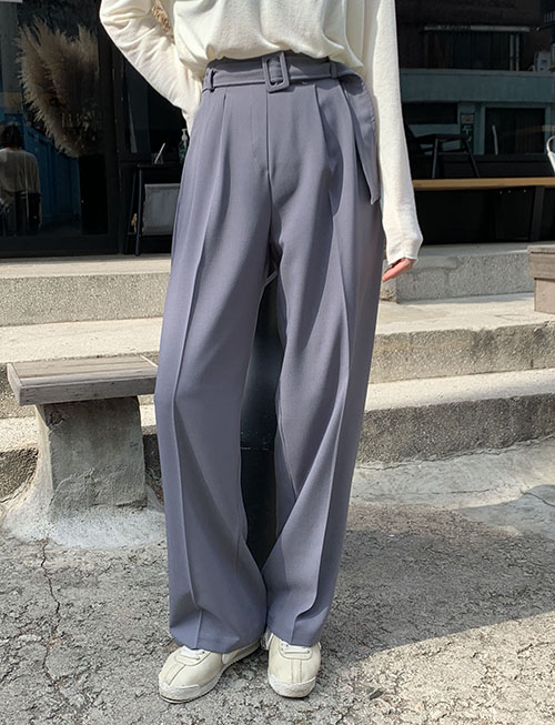 Belt slacks (3 colors)