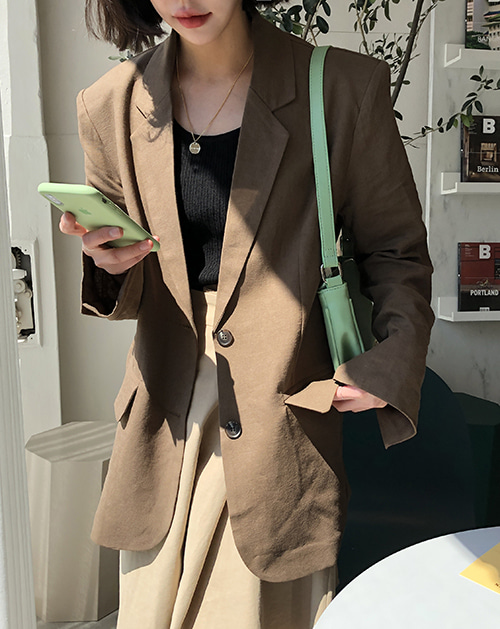 Linen jacket (4 color)