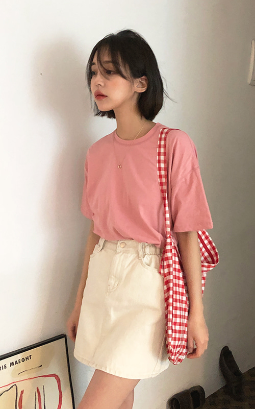 Loose half tee (7 color)