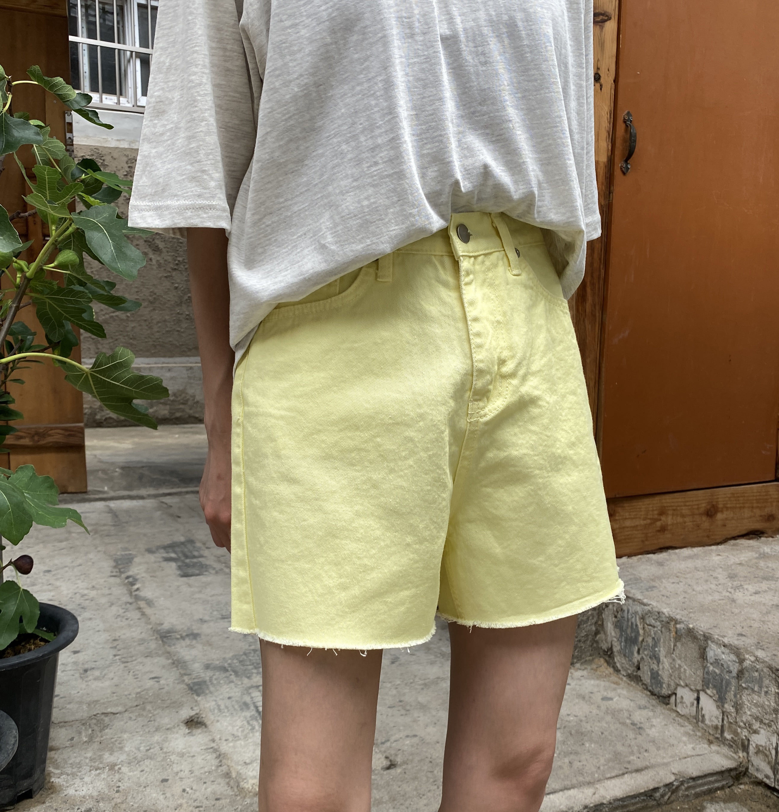Lemon half pants