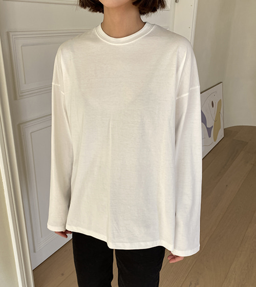 Slit long sleeve tee ( 5 color )