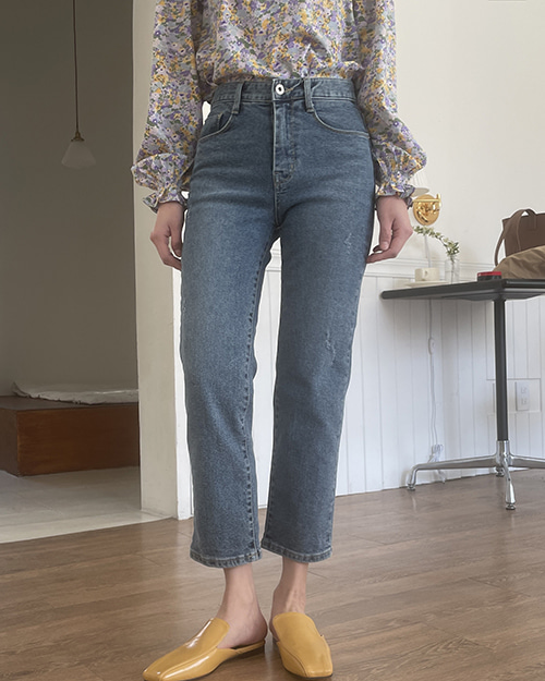 Lumiere straighte denim pants